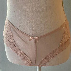 NWT Medium Victoria's Secret Shimmering Pink Panty